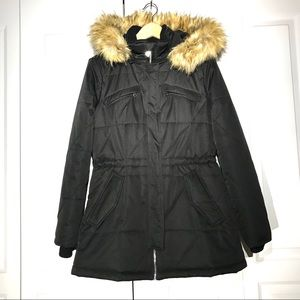 Zara black parka - Size L